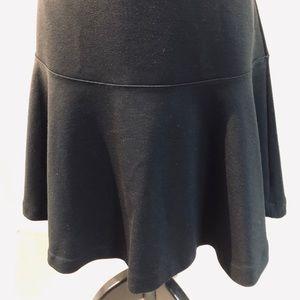 Old Navy Black Swing Style Flare Bottom Hem Skirt